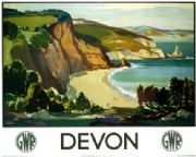 Devon. Vintage GWR Travel poster by Leonard Richmond